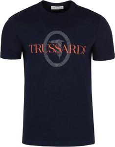 T-shirt Trussardi w młodzieżowym stylu z krótkim rękawem