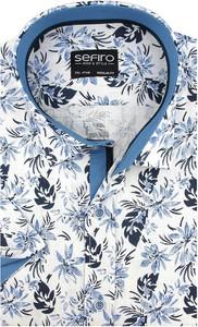 Koszula Sefiro w młodzieżowym stylu z lnu z kołnierzykiem button down