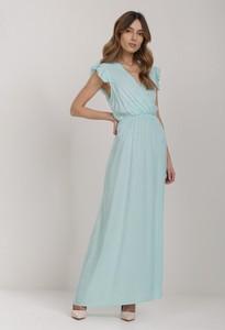 Miętowa sukienka Renee maxi
