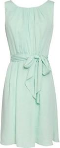 Zielona sukienka Smashed Lemon bez rękawów w stylu casual z okrągłym dekoltem