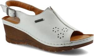 Sandały Pollonus z klamrami ze skóry
