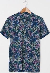 Granatowy t-shirt House z krótkim rękawem z nadrukiem