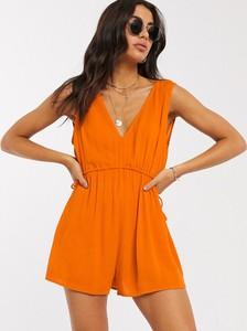 Pomarańczowy kombinezon Asos w stylu boho