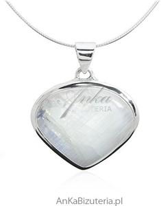 Ankabizuteria.pl Zawieszka srebrne w kształcie SERCA z kamieniem księżycowym