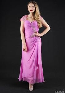Różowa sukienka Rokado gorsetowa