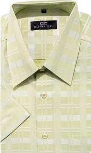 Zielona koszula Giacomo Conti z bawełny z krótkim rękawem