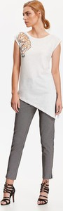T-shirt Top Secret z okrągłym dekoltem w młodzieżowym stylu z krótkim rękawem