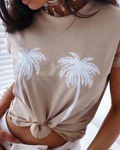 Bluzka Kendallme z okrągłym dekoltem z bawełny