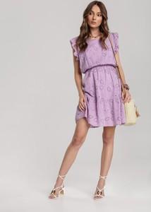 Fioletowa sukienka Renee mini rozkloszowana w stylu casual