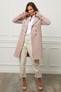 Le Comptoir Du Manteau Płaszcz w kolorze jasnoróżowo-białym