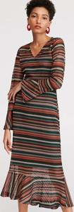 Sukienka Reserved midi trapezowa w stylu casual