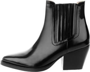 Czarne botki Prima Moda na obcasie