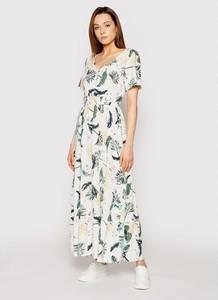 Sukienka Roxy z krótkim rękawem z okrągłym dekoltem