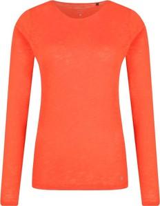 Pomarańczowa bluzka Marc O'Polo z okrągłym dekoltem w stylu casual