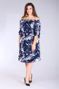 Sukienka Sklep XL-ka z długim rękawem hiszpanka