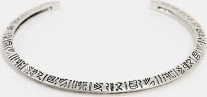 ASOS DESIGN – Teksturowana bransoletka w srebrnym kolorze