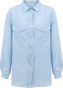 Niebieska koszula L'AF z długim rękawem