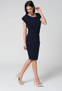 Sukienka MOSALI z krótkim rękawem midi dopasowana