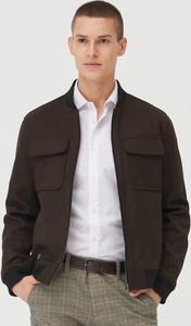 Brązowa kurtka Sinsay w stylu casual krótka