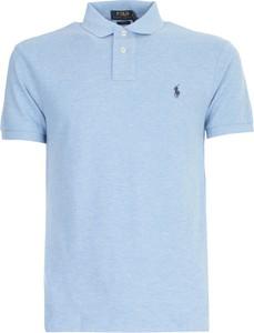Niebieska koszulka polo POLO RALPH LAUREN z bawełny z krótkim rękawem