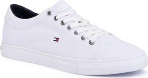 Buty sportowe Tommy Hilfiger sznurowane ze skóry ekologicznej