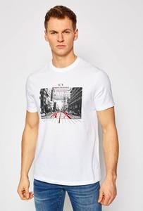 T-shirt Armani Exchange z bawełny z krótkim rękawem