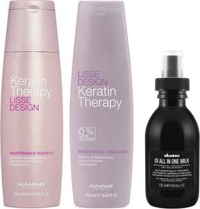 Alfaparf Milano Alfaparf Keratin Therapy Maintenance and OI All in One Milk | Zestaw do wygładzenia i odżywienia włosów: szampon 250ml + odżywka 250ml + mleczko 135ml - Wysyłka w 24H!