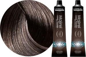 L'Oreal Paris Loreal Majirel Cool Cover | Zestaw: trwała farba do włosów o chłodnych odcieniach - kolor 6.1 ciemny blond popielaty 2x50ml - Wysyłka w 24H!