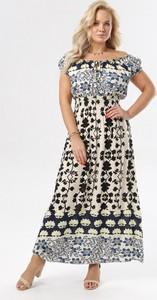 Sukienka born2be z krótkim rękawem maxi hiszpanka