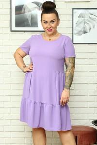 Sukienka KARKO mini z tkaniny w stylu casual