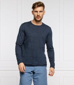 Niebieski sweter Joop! z okrągłym dekoltem w stylu casual