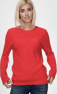 Czerwony sweter Lee Cooper z dzianiny w stylu casual