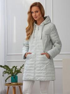 Niebieska kurtka Rino & Pelle w stylu casual długa z tkaniny