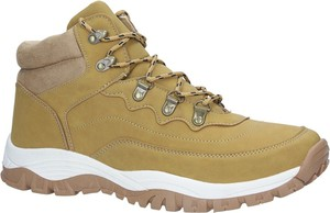 Brązowe buty trekkingowe Casu w sportowym stylu