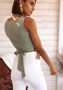 Zielona bluzka Latika w stylu casual