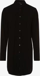 Czarna bluzka Vero Moda z kołnierzykiem z długim rękawem