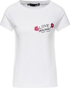 T-shirt Love Moschino z nadrukiem w stylu casual z krótkim rękawem