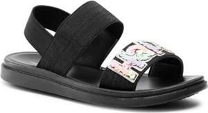 Czarne buty dziecięce letnie Nelli Blu dla dziewczynek