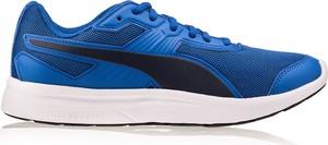 Niebieskie buty sportowe Puma sznurowane w sportowym stylu