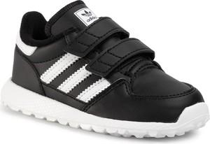 Czarne buciki niemowlęce Adidas na rzepy