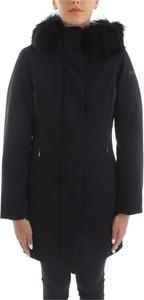 Czarna kurtka Rrd długa w stylu casual