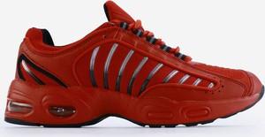 Czerwone buty sportowe Yourshoes sznurowane z płaską podeszwą