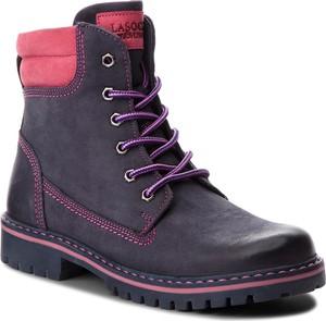 Buty dziecięce zimowe Lasocki Young ze skóry sznurowane