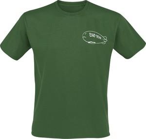 Zielony t-shirt Emp z krótkim rękawem z bawełny