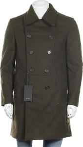 Zielony płaszcz męski ZARA