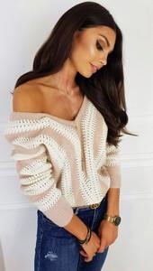 Sweter infinityfashion.pl z lnu w stylu casual