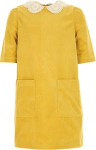 Żółta sukienka dziewczęca Bonpoint