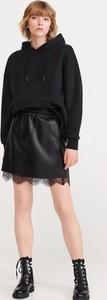 Czarna spódnica Reserved w rockowym stylu mini