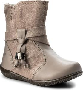 Beżowe buty dziecięce zimowe primigi dla dziewczynek