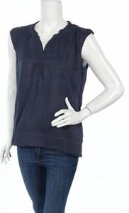 Granatowa bluzka Lois w stylu casual z dekoltem w kształcie litery v